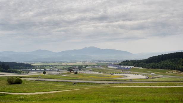 Blick auf den Red Bull Ring in Spielberg/Steiermark