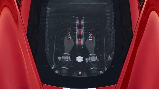 Der Motor des Ferrari 458 Speciale