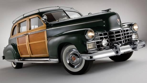 Der 1949 Cadillac Series 75 Custom Limousine seitlich