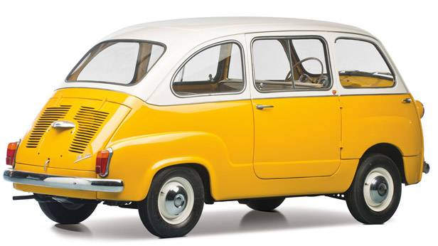 Der Fiat Multipla 600 seitlich