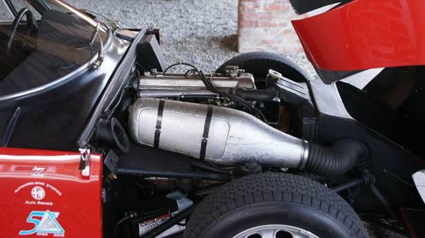 Motorraum des Alfa Romeo Giulia TZ