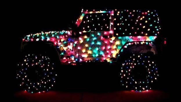 Christmas Jeep Weihnachten
