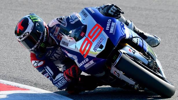 Jorge Lorenzo auf seinem Motorrad beim GP von San Marino