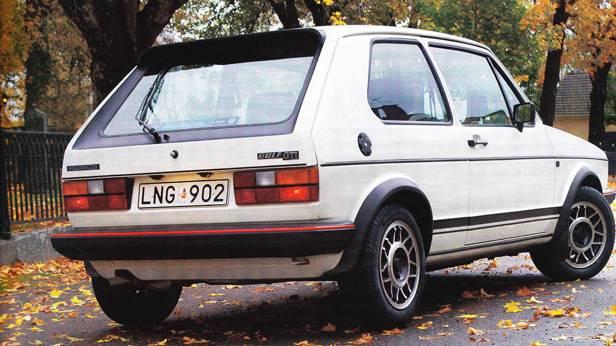 VW Golf 1 GTI 1984 heck seitlich hinten