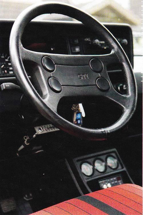 VW Golf 1 GTI 1984 lederlenkrad