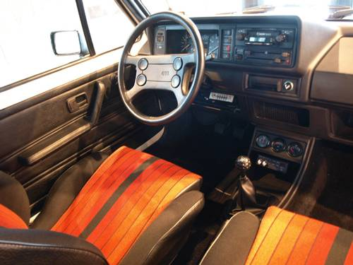 VW Golf 1 GTI 1984 innenraum sitze