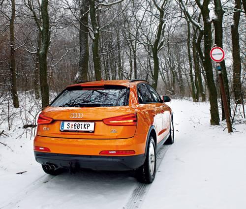 Audi Q3 2,0 TDI quattro S-tronic heckansicht