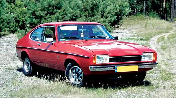 Ford Capri Serie II rot vorne seite front