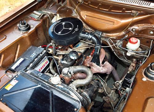 kaufberatung ford capri serie I gold motor motorraum