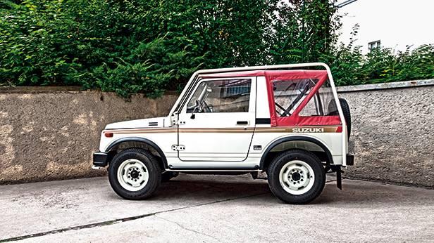 Suzuki sj 410 weiß seite totale