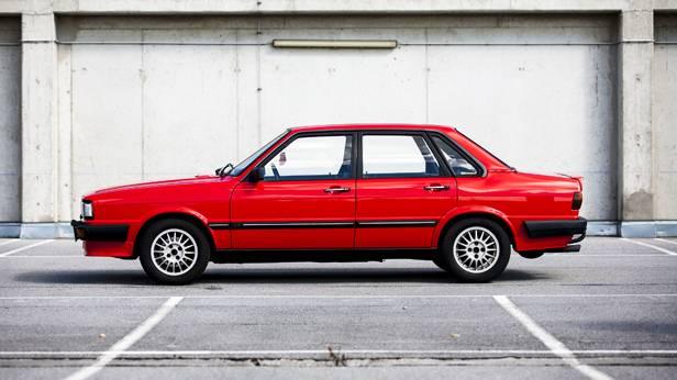 Audi 80 Quattro Typ85 5e rot seite seitlich