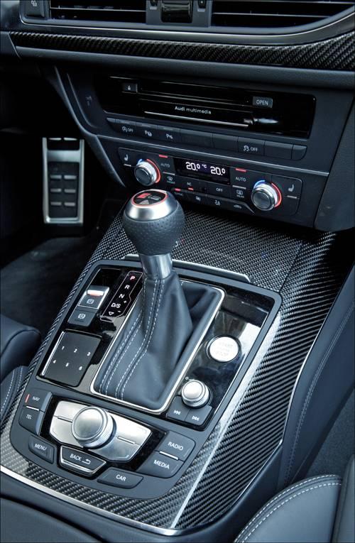 Audi RS6 Avant quattro schaltknauf mittelkonsole