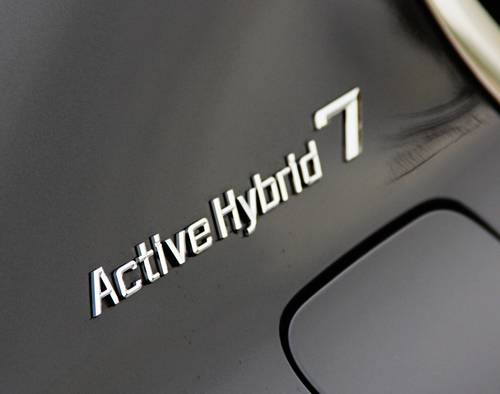 bmw 7 activehybrid detail schriftzug