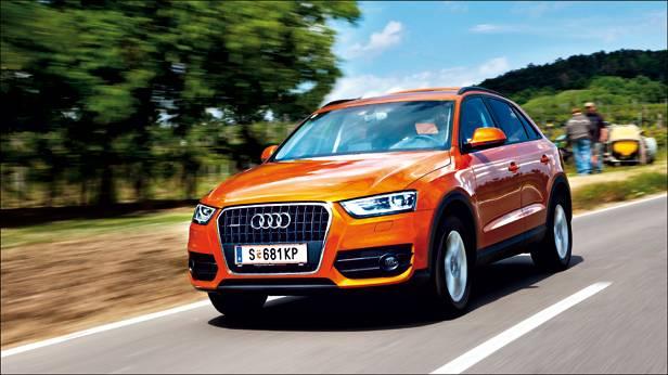 Audi Q3 2,0 TDI quattro S-tronic orange front seite