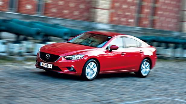 Mazda 6 2,0 165PS Revolution vorne front seite seitlich rot