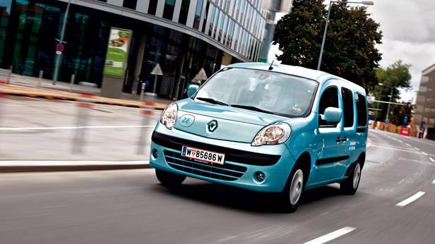 Renault Kangoo Z.E. front vorne seitlich