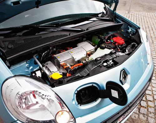 Renault Kangoo Z.E. motorraum motor
