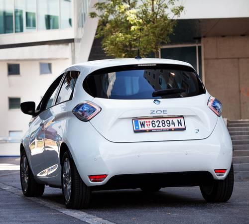 Renault Zoe ZEN heck hinten seite weiß