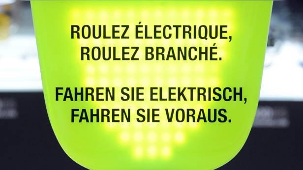Werbung für Elektroautos