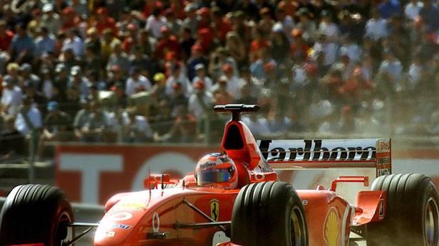 Formel-1-Rennauto von Ferrari auf dem Österreichring