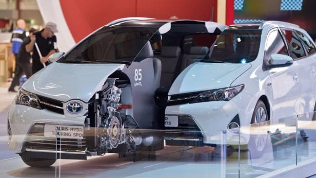 Ein Auto von Toyota bei der IAA Frankfurt