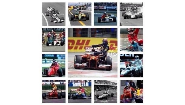 """Diese Collage twitterte Webber als Reaktion auf die """"skurrile"""" Bestrafung für seine Taxifahrt."""