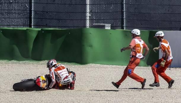 Marquez erzielte trotz Sturz Bestzeit in der Qualifikation für den morgigen MotoGP von San Marino.