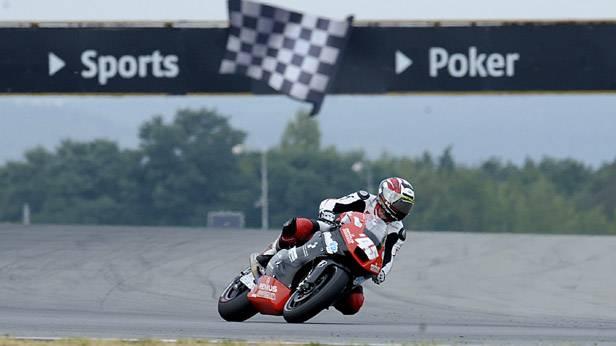 Martin Bauer auf seinem Motorrad beim GP in Brno