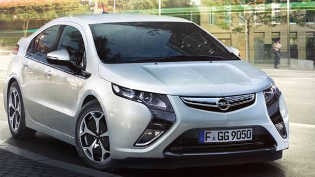 Der Opel Ampera von vorne