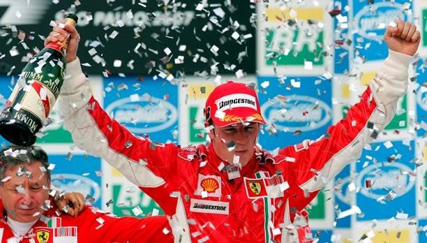2007 jubelte Räikkönen bereits für Ferrari, ab nächstem Jahr bekommt er wieder die Gelegenheit dazu.