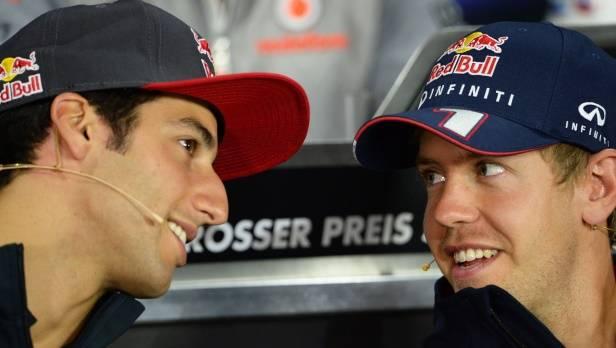 Jetzt ist es fix: Ricciardo und Vettel sind ab der kommenden Saison Kollegen.
