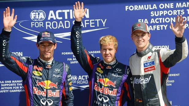 Webber, Vettel nach dem Qualifying