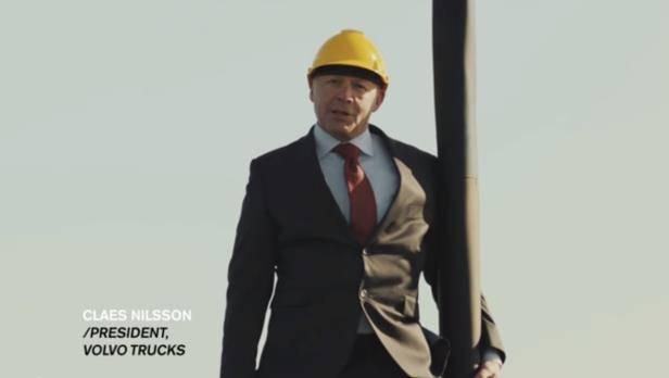 Volvo-Truck Video: Chef am Haken