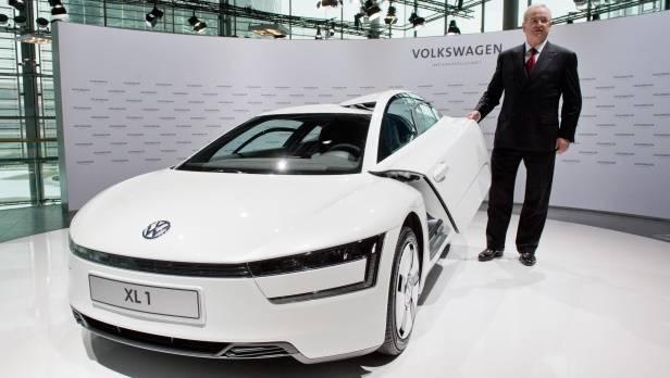 Der VW-Chef und der Leuchtturm: XL1 ist Prestigeprojekt und Ingenieursplattform für VW.