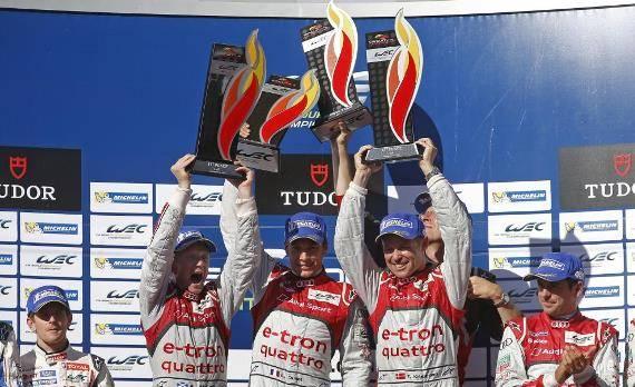 Das Audi-Trio Kristensen, Duval und McNish triumphierte in Austin, Wurz' Toyota-Kollegen erreichten den zweiten Platz.
