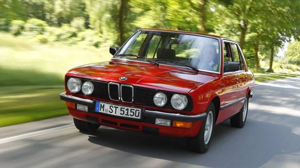 Der BMW 524 td von vorne
