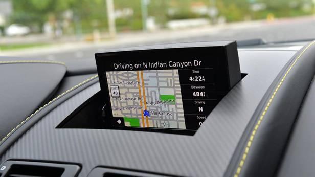 Aston Martin V12 Vantage S, Navigationssystem