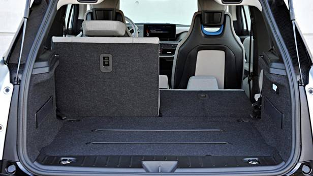 Der Kofferraum des BMW i3
