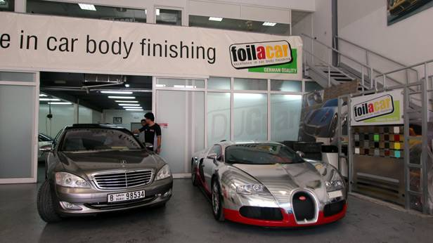 Werkstatt von Foilacar Dubai