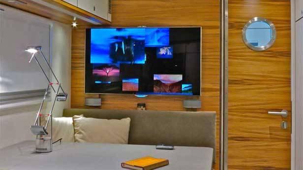 Der Global XRS 7200, Flach-TV