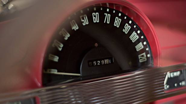 Das Hudson Italia Coupe, Tachometer
