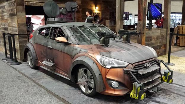 Hyundai Zombie Santa Fe Veloster ix35 The Walking Dead