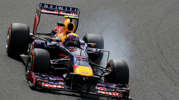 Mark Webber beim Training zum GP Japan 2013