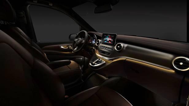 Die Mercedes Benz V-Klasse, das Cockpit