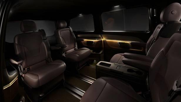 Die Mercedes Benz V-Klasse, innen hinten