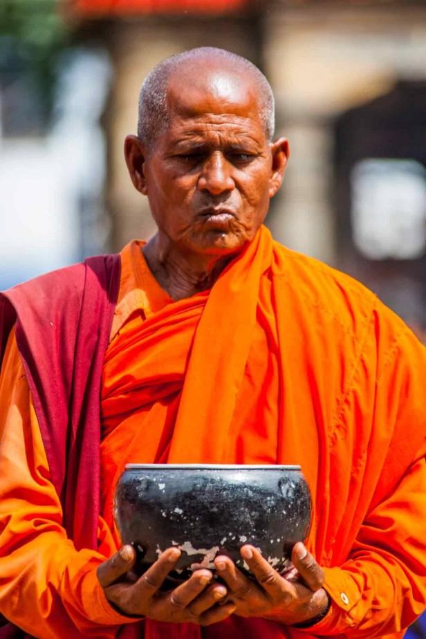 Ein Mönch in Nepal