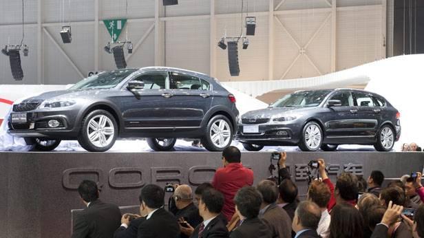 Präsentation von Qoros beim Genfer Autosalon 2013