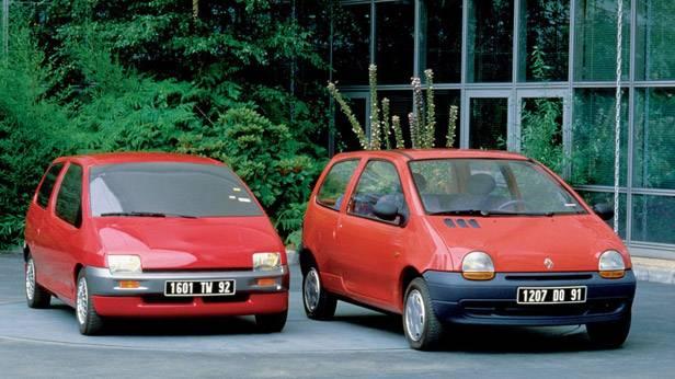 Der Renault Twingo 1993 und ein Prototyp