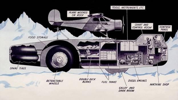 Die skurrilsten Autos der Geschichte die witzigsten Autos der GEschichte Antarktis Admiral Richard Evely Byrd Snow Cruiser
