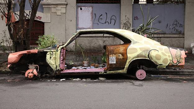 Streetart Sao Paulo ocupe Carrinho